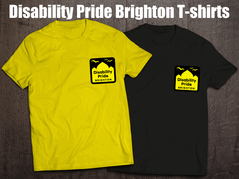 Disability Pride Brighton T-shirts